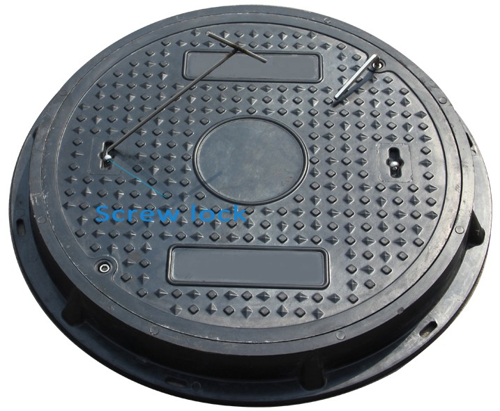 smc resin 600mm A15 round manhole cover