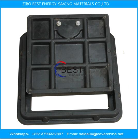 Composite BMC manhole cover 300x300mm load bearing capacity 3tons