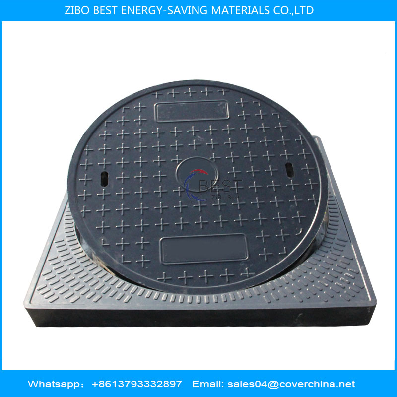Resin Manhole Cover Round 700mm External Size 800x800mm
