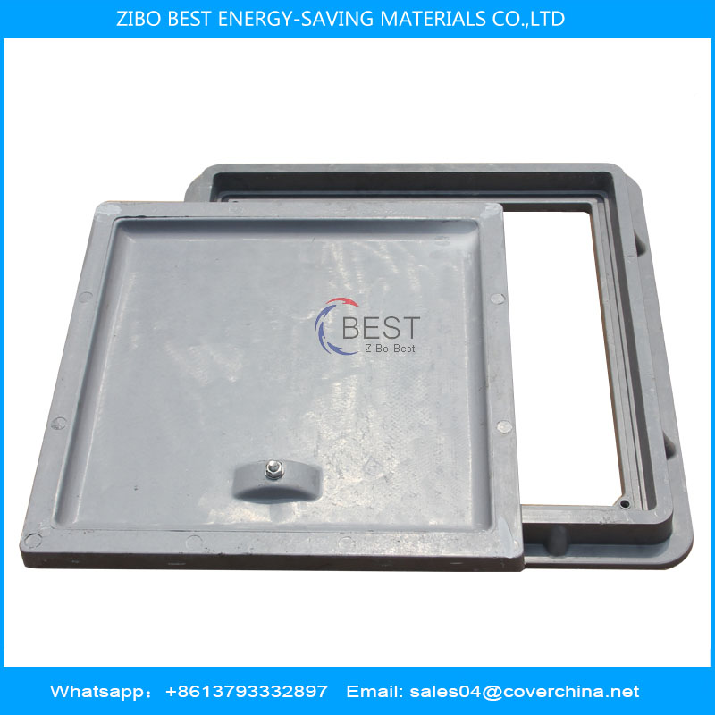 B125 500x500 SMC Resin Manhole Cover Corrosion Resistance