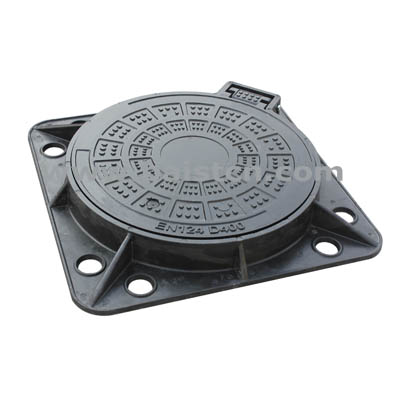 EN124 D400 Square Frame 850x850mm Composite Manhole Cover
